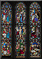 SK7792 : Stained glass window, St Mary Magdalene church, Walkeringham by Julian P Guffogg