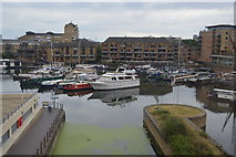 TQ3681 : Regent Canal enters Limehouse Basin by N Chadwick
