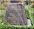 SJ8397 : St John's Cross: Base inscription (1) by Gerald England