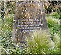 SJ8397 : St John's Cross: Base inscription (4) by Gerald England