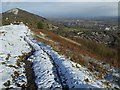 SO7643 : A light dusting of snow on the Malvern Hills by Philip Halling