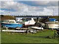 NZ3376 : Boat yard, Seaton Sluice by Andrew Curtis