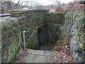 SE0423 : Sowerby Bridge FP67 going under the railway, Luddendenfoot by Humphrey Bolton