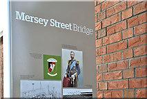 J3674 : Mersey Street Bridge sign, Belfast (December 2017) by Albert Bridge