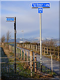 NS3174 : Coastal path at Port Glasgow by Thomas Nugent