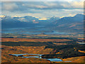 NS4975 : Jaw Reservoir, Cochno Loch and Loch Lomond from the air by Thomas Nugent