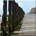 TG1743 : Old sea defences on the beach near Sheringham by Mat Fascione