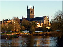 SO8454 : Worcester Cathedral from Worcester Bridge by Jonathan Billinger