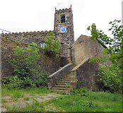 SJ9995 : Steps to Mottram Church by Gerald England