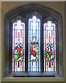 SJ9995 : Johnson memorial stained glass  by Gerald England