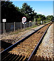 SX9688 : 25 mph speed limit on the approach to Topsham railway station by Jaggery