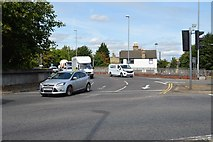 TL4658 : Newmarket Rd roundabout by N Chadwick