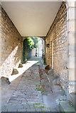 NZ0516 : Sunlight through the arch by Bob Harvey