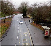ST3188 : Malpas Road bus stop and shelter, Crindau, Newport by Jaggery