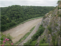 ST5673 : The Avon at low tide below Clifton by Stephen Craven
