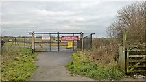 SJ7981 : Crash Gate No 9, Manchester Airport by Chris Morgan