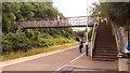 ST5974 : Montpelier station - footbridge by Stephen Craven