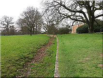 SE5158 : Beningbrough Hall, the ha-ha by Stephen Craven