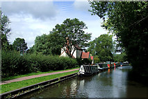 SO8483 : Moorings near Kinver in Staffordshire by Roger  Kidd