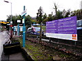 ST1882 : Purple4Polio Campaign banner on Llanishen railway station, Cardiff by Jaggery