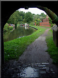 SO8483 : Canal towpath in Kinver, Staffordshire by Roger  Kidd
