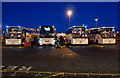 TA1328 : Coaches at T1, P&O ferry terminal, Hull by Ian S