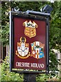 SJ7686 : Sign of the Cheshire Midland by Gerald England