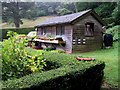 SZ4083 : The potting shed at Mottistone Manor by Steve Daniels
