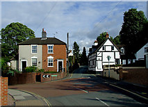 SO8483 : Mill Lane and Church Hill in Kinver, Staffordshire by Roger  Kidd