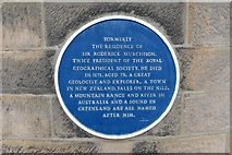 NZ0516 : Blue Plaque by Bob Harvey