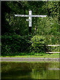 SO8685 : Canal signpost at Stourton Junction, Staffordshire by Roger  Kidd