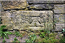 SE1537 : Benchmark on parapet of towpath bridge over Bradford Beck by Roger Templeman