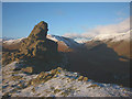NY3209 : Helm Crag summit tor - 'The Howitzer' by Karl and Ali