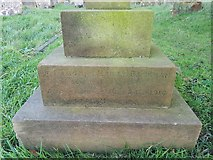 TM3787 : Inscription on war grave of Thomas Henry Rackham by Helen Steed