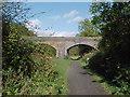 SP7383 : Bridge over the Brampton Valley Way by Tim Glover