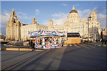 SJ3390 : Christmas Ice Festival and the Three Graces by David Dixon
