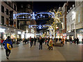 SJ3490 : Christmas Decorations on Church Street by David Dixon