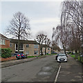 TL4756 : Lichfield Road on New Year's Day by John Sutton