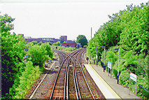 TQ0471 : Staines, junction west of station, 2005 by Ben Brooksbank