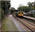 ST1882 : Rhymney train in Llanishen station, Cardiff by Jaggery