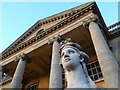 SO8844 : Sphinx and portico, Croome Park by Philip Halling