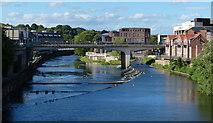 NZ2742 : Milburngate Bridge crossing the River Wear by Mat Fascione
