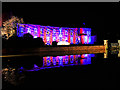 SJ7387 : Dunham Massey Hall and Moat, Illuminated for Christmas by David Dixon