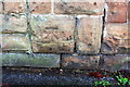 SK5445 : Benchmark on wall post between Nos 306 and 308 St Albans Road by Roger Templeman