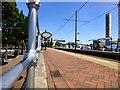 SJ8197 : Salford Quays Tram Stop by Gerald England