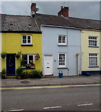 ST5394 : Yellow house and a Grade II listed house, Lower Church Street, Chepstow by Jaggery