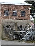SP3065 : Archimedes screws, Princes Drive sewage pumping station, Leamington by Rudi Winter