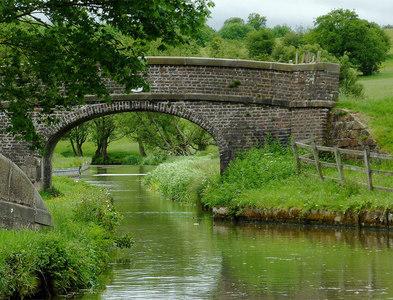 SJ9453 : Bridge No 1 near Hazelhurst Junction in Staffordshire by Roger  Kidd