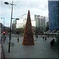 TQ2982 : Christmas decoration opposite Warren Street station by Robert Eva