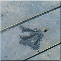 SK4832 : Bench mark alongside the canal, Long Eaton by Alan Murray-Rust